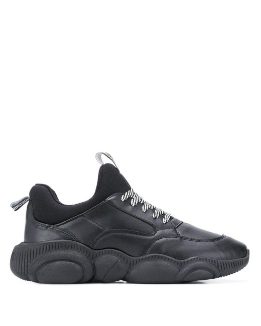 Moschino Black Teddy Low-top Sneakers