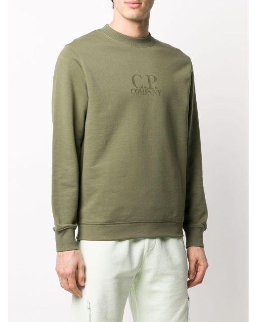 メンズ C P Company ロゴ セーター Green
