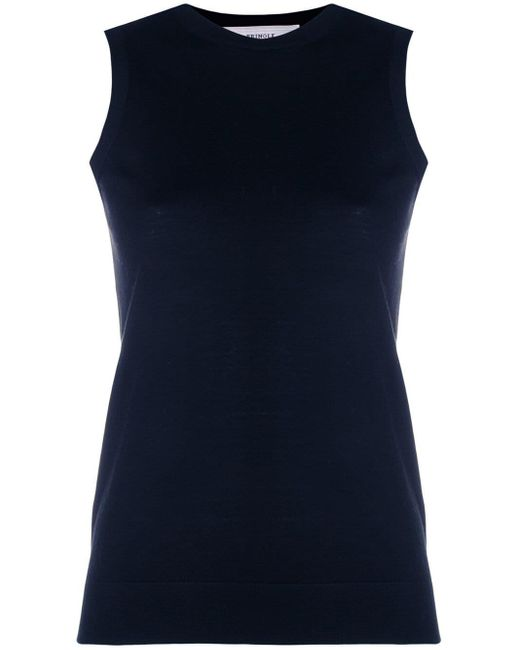 Pringle of Scotland Knitted Tank Top Blue
