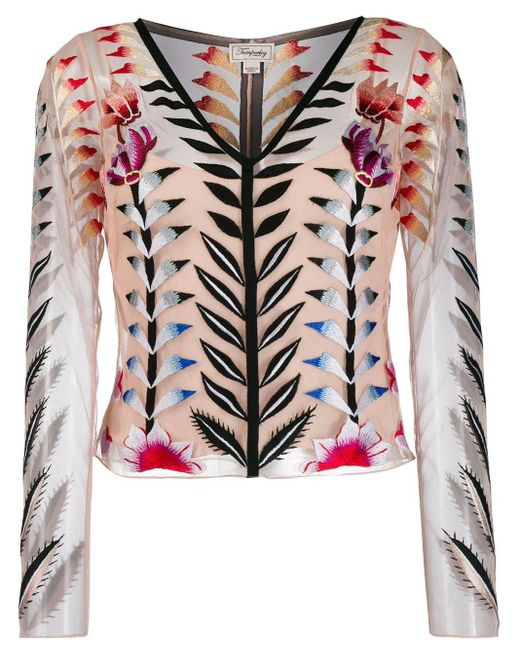 Temperley London Rosy トップ Pink