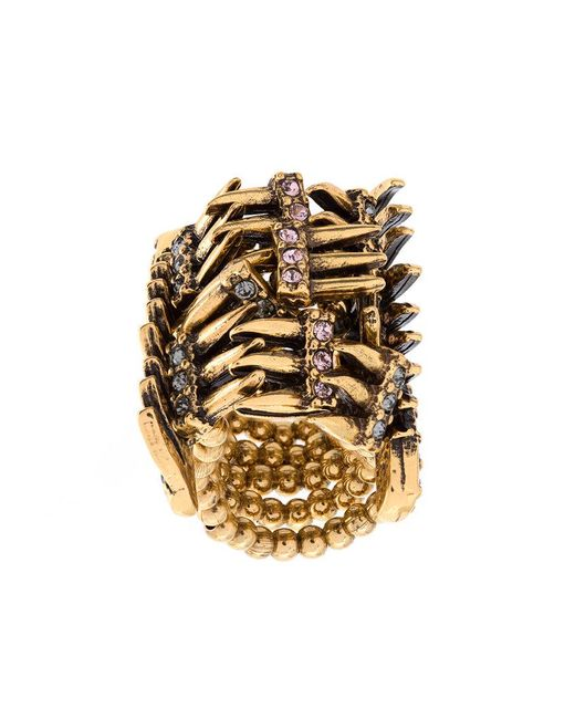 Camila Klein - Metallic Strass Embellished Ring - Lyst