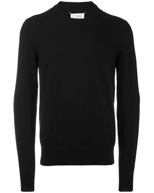 メンズ Maison Margiela エルボーパッチ セーター Black