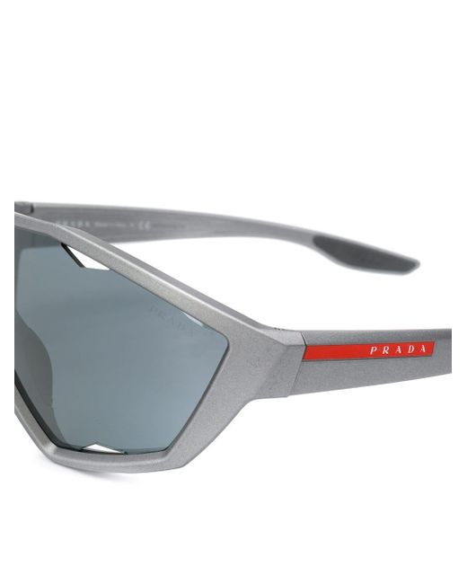 Gafas de sol oversize Prada de color Gray