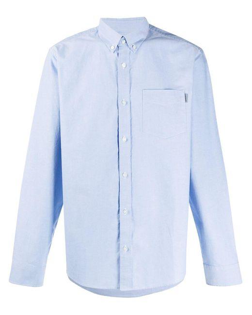 Camicia con colletto button-down di Carhartt WIP in Blue da Uomo