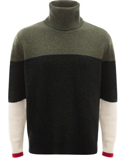 メンズ J.W. Anderson カラーブロック セーター Green