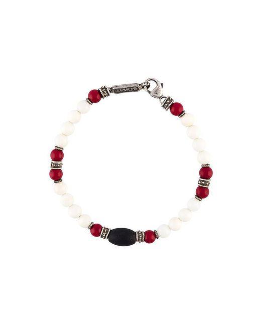 Roman Paul | Red Beaded Bracelet for Men | Lyst