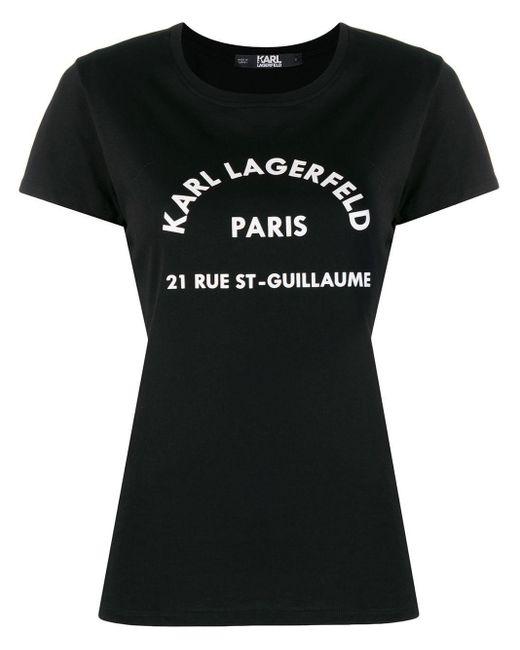 Karl Lagerfeld ロゴ パーカー Black
