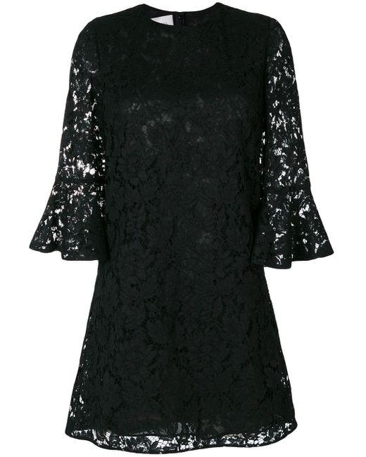 Valentino ヘビーレース ドレス Black