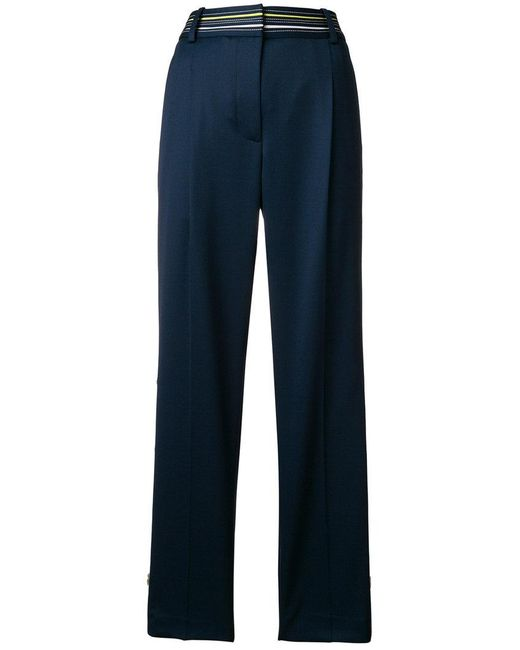 Peter Pilotto - Blue Cropped Tailored Trousers - Lyst