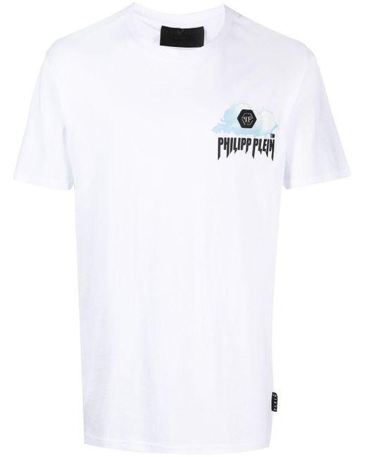 Футболка С Принтом Philipp Plein для него, цвет: White