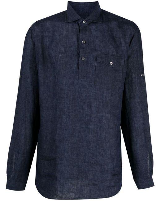 Рубашка С Нагрудными Карманами Lardini для него, цвет: Blue