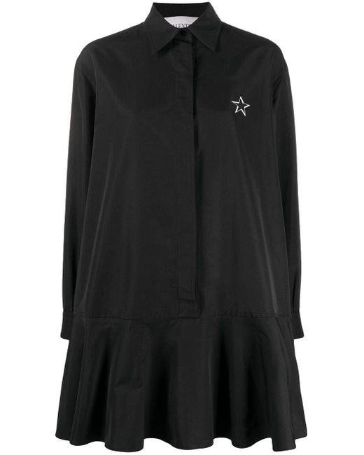 Valentino Vltn プリント シャツドレス Black
