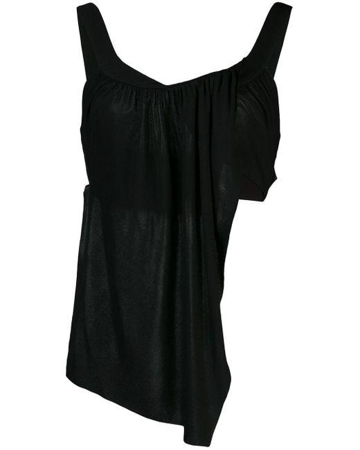 Топ Асимметричного Кроя С Драпировкой Proenza Schouler, цвет: Black