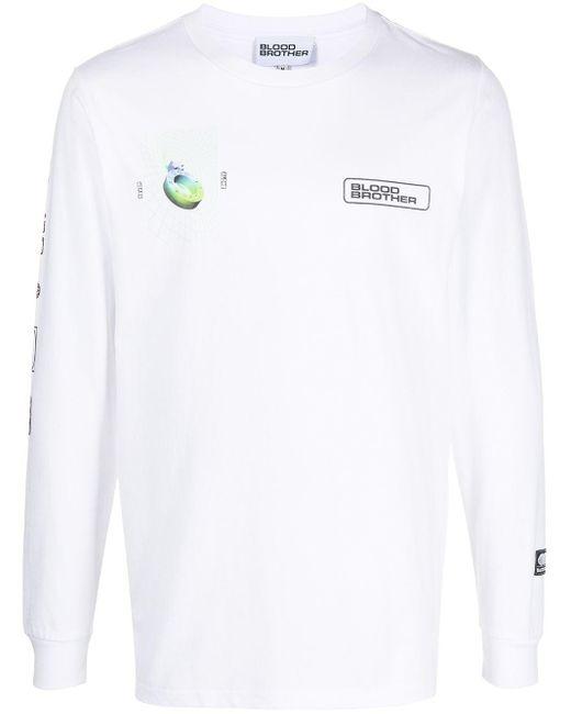 メンズ Blood Brother Aldgate ロングtシャツ White
