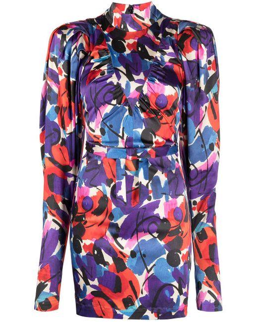 Robe courte à imprimé abstrait ROTATE BIRGER CHRISTENSEN en coloris Blue