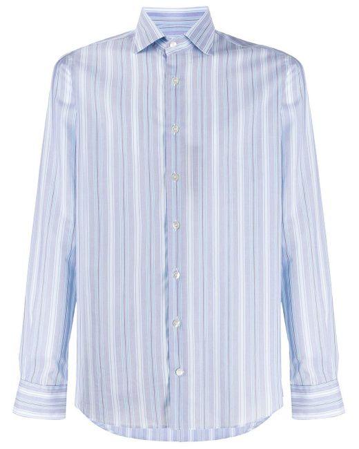 Полосатая Рубашка С Длинными Рукавами Etro для него, цвет: Blue