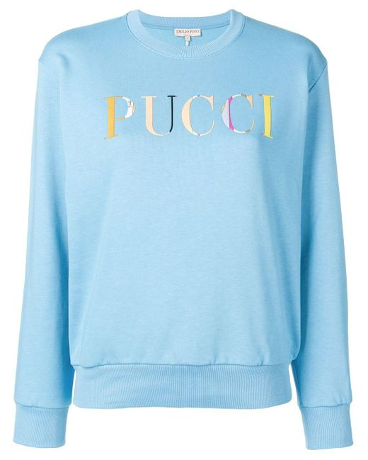 Emilio Pucci ロゴ セーター Blue