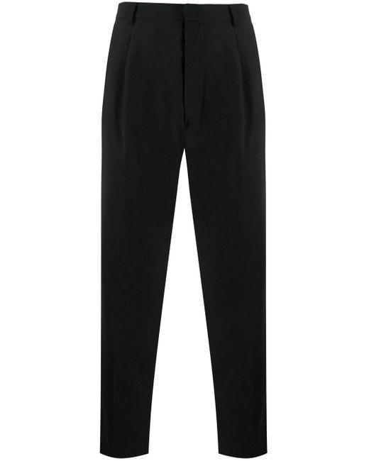 Pantalones de talle alto con pinzas AMI de hombre de color Black