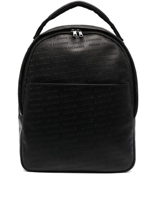 メンズ Armani Exchange ジップアップ バックパック Black