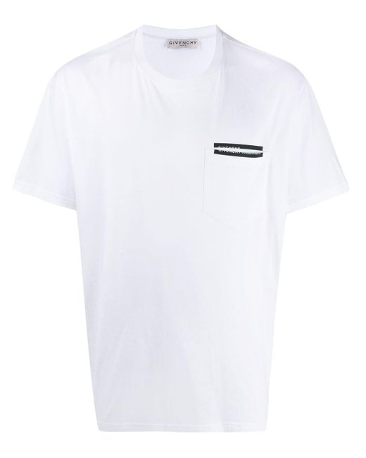 メンズ Givenchy リボントリム Tシャツ White