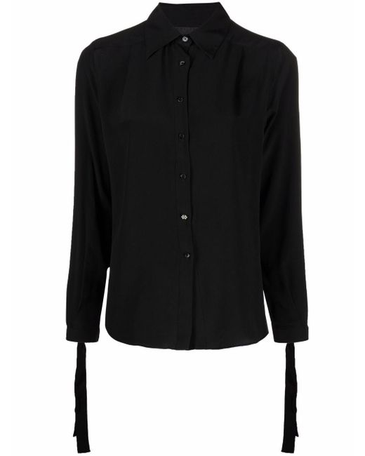 Philipp Plein ボタン シルクシャツ Black