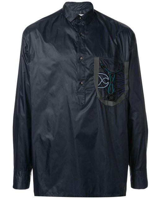 メンズ Kolor ボタンカラー シャツジャケット Blue