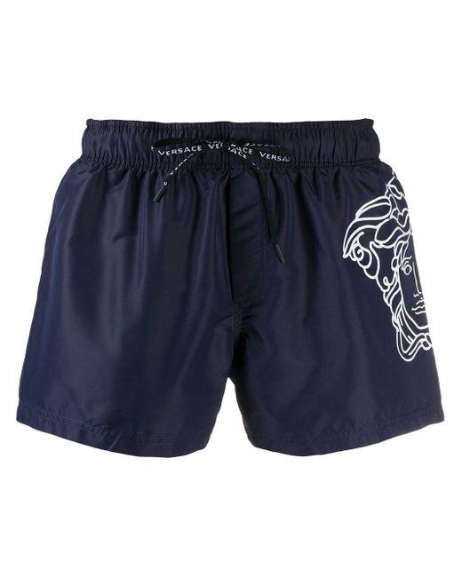 Плавки-шорты С Принтом Medusa Versace для него, цвет: Blue