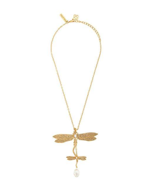 Oscar de la Renta Dragonfly ペンダント ネックレス Metallic
