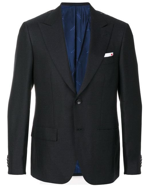 Kiton | Blue Classic Fitted Blazer for Men | Lyst
