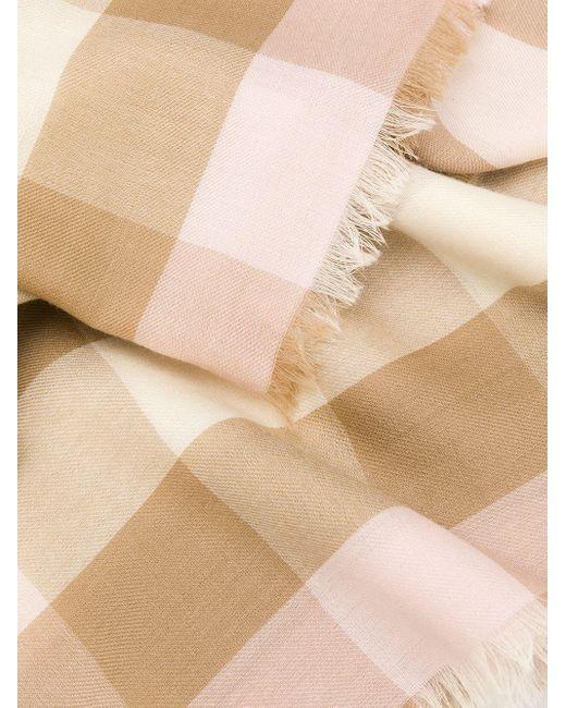 Кашемировый Шарф В Клетку Burberry, цвет: Pink