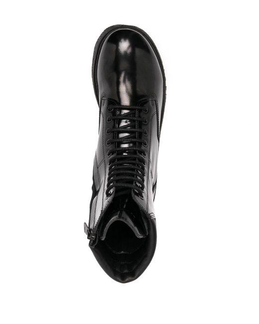 Ботинки В Стиле Милитари Emporio Armani для него, цвет: Black