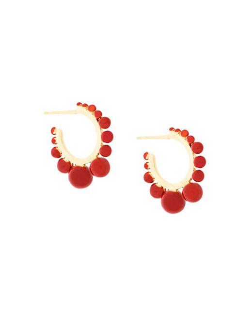 Pendientes de aro Ana Aurelie Bidermann de color Red