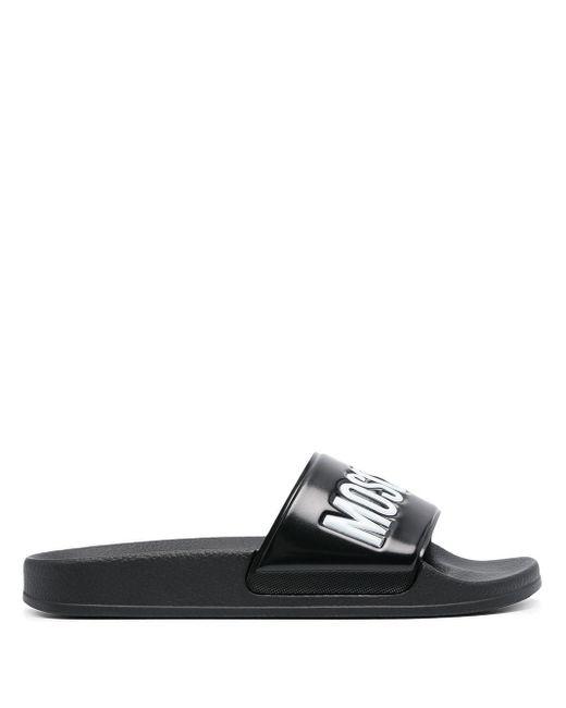 Шлепанцы С Логотипом Moschino, цвет: Black