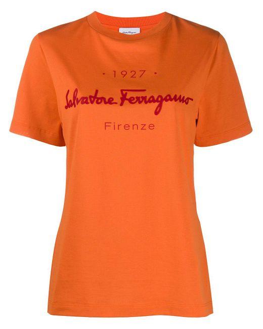 Ferragamo ロゴ Tシャツ Orange