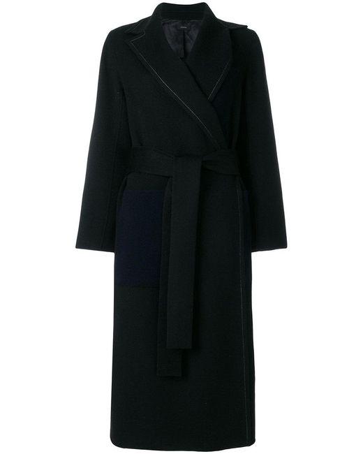 Joseph - Black Belted Robe Coat - Lyst