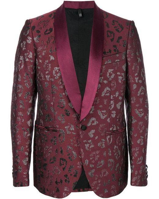 Christian Pellizzari   Red Metallic Patterned Suit Jacket for Men   Lyst