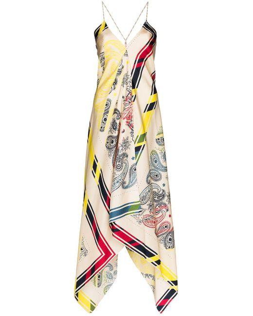 Golden Goose Deluxe Brand Sleeveless Blanket Bandana Dress White
