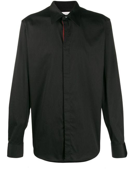 メンズ Alexander McQueen ポインテッドカラー シャツ Black