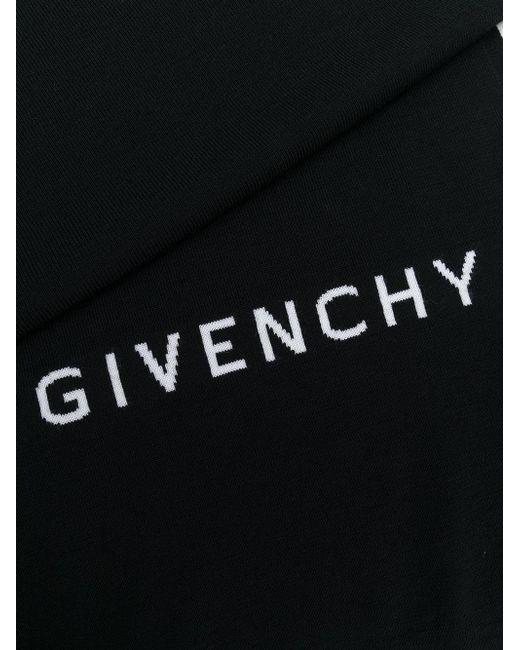 Givenchy Black Intarsia Logo Scarf