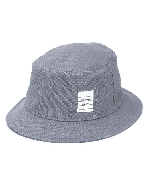メンズ Thom Browne Medium Grey Heavy Cotton Canvas Bucket Hat Gray