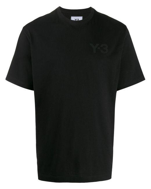 Y-3 Black Plain Logo T-shirt for men