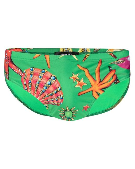 Плавки С Принтом Versace для него, цвет: Green