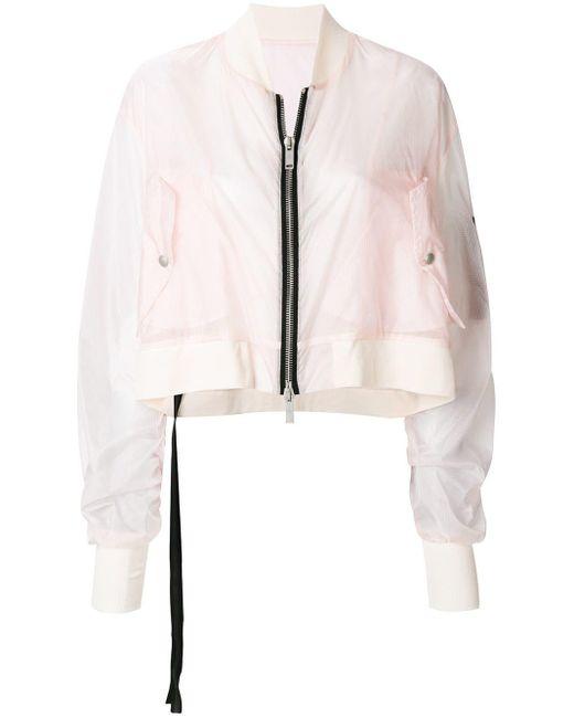 Unravel Project クロップド ボンバージャケット Pink