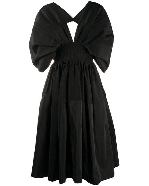 Платье Миди С Пышными Рукавами Alexander McQueen, цвет: Black