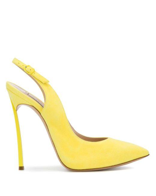 Casadei Royal Fizz パンプス Yellow