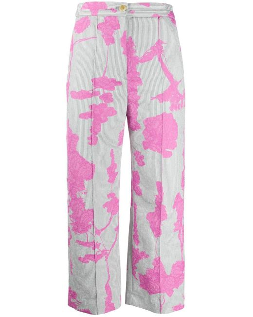 Chalayan フローラル ワイドパンツ Pink