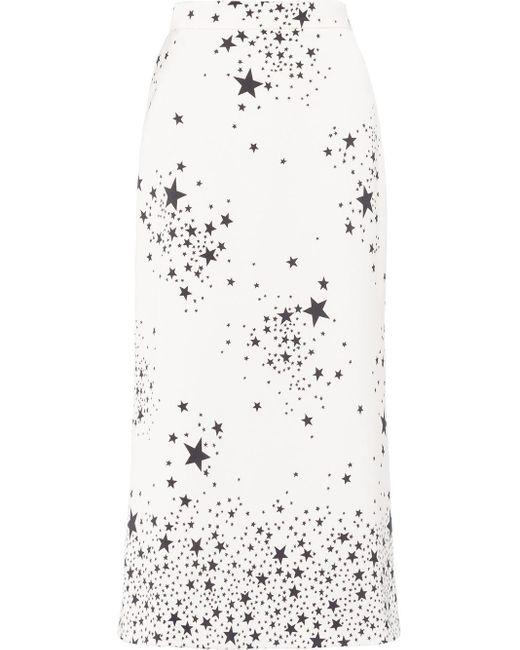 Miu Miu スター Aラインスカート White