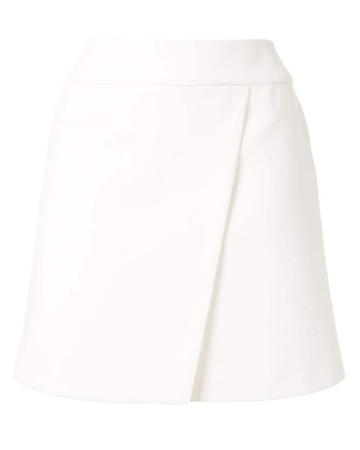 Paule Ka ラップスカート White
