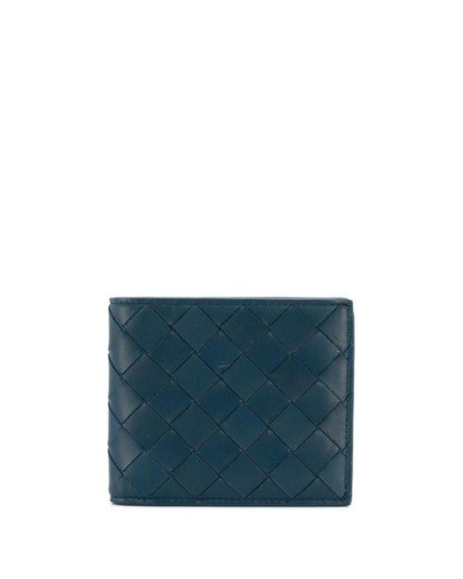 メンズ Bottega Veneta イントレチャート 二つ折り財布 Blue