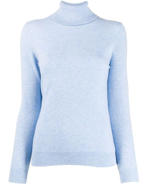 N.Peal Cashmere ポロカラー セーター Blue